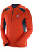 Salomon Fast Wing LS Tee Men vivid orange/big blue-x